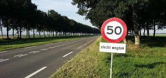 Tijdelijk 50 km/u op de Vogelweg